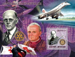 Guinea - Bissau 2005 - 100th Anniversary Rotary (also Pope, Concorde, Red Cross) S/s, Y&T 224, Michel 2908/BL483 - Guinea-Bissau