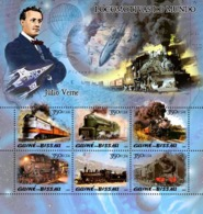 Guinea - Bissau 2005 - Steam Trains & Jules Verne 6v, Y&T 1920-1925, Michel 3016-3021 - Guinea-Bissau