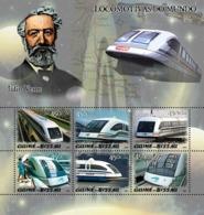 Guinea - Bissau 2005 - Maglev Trains & Jules Verne 6v, Y&T 1932-1937, Michel 3028-3033 - Guinea-Bissau