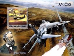 Guinea - Bissau 2005 - Aircraft & Jules Verne S/s, Y&T 273, Michel 3099/BL516 - Guinea-Bissau