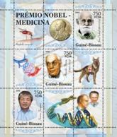 Guinea - Bissau 2005 - Nobel Prize Winners -Medicine-I.Pavlov, A.Fleming, S.Jonegawa 3v, Y&T 2007-2009, Michel 3180-3182 - Guinée-Bissau