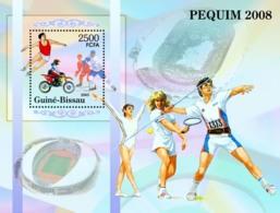Guinea - Bissau 2005 -  Prelude To Olympiad In Beijing / Peking Athletics, Tennis S/s, Y&T 284, Michel 3127/BL520 - Guinée-Bissau