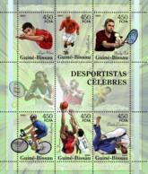 Guinea - Bissau 2005 - Famous Sportsmen - Table Tennis, Football - Beckham, Fish 6v, Y&T 2046-2051, Michel 3140-3145 - Guinea-Bissau