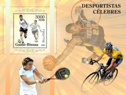 Guinea - Bissau 2005 - Famous Sportsmen Football - Ballack, Tennis, Basketball S/s, Y&T 285, Michel 3148/BL523 - Guinea-Bissau