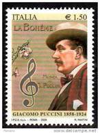 PIA - ITALIA - 2008 : 150° Della Nascita Di Giacomo Puccini   - (SAS  3042) - 2001-10: Mint/hinged