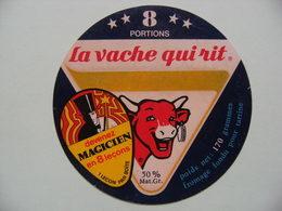 """Etiquette Fromage Fondu - Vache Qui Rit - 8 Portions Bel Pub """"MAGICIEN En 8 Leçons""""   A Voir ! - Fromage"""