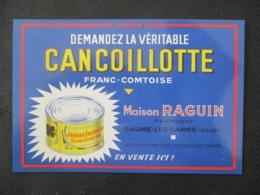 Carte Cancoillotte RAGUIN - Baume Les Dames
