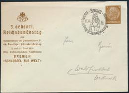 Dt. Reich Privatganzsache PU 127 44. Philatelistentag Bremen 3. Reichsbundestag - Postwaardestukken