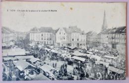 Ath - Un Coin De La Place Et Le Clocher St-Martin - Ath