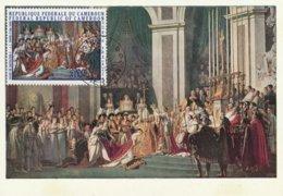 Carte Maximum -  Sacre De Napoléon 1er Par Le Pape Pie VII Par J.L. David (1748-1825) - Cameroun