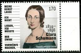 BRD - 3493 - ** Postfrisch (Q) - 170C       Clara Schumann - Ausgabe 05.09.2019 - Ongebruikt
