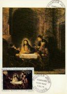Carte Maximum -  Les Pèlerins D'Emmaüs Par Rembrandt (1606-1669) - Cameroun