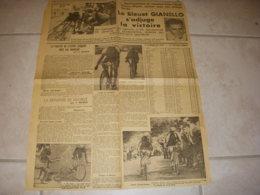 CYCLISME COUPURE JOURNAL OUEST ECLAIR 22.07.1938 TdF DIGNE GIANELLO GOASMAT - Sport