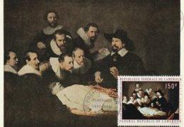 Carte Maximum -  La Leçon D'anatomie Par Rembrandt (1606-1669) - Cameroun