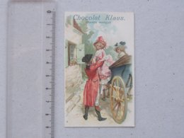 CHROMO Chocolat KLAUS: ATTELAGE Carrosse Bourgeois Amoureux Jolie Tenue Mode - N°8 - - Autres