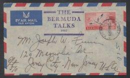BERMUDES - BERMUDA - HAMILTON / 1957 LETTRE AVION POUR LES  USA (ref LE141) - Bermudes