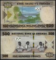 RWANDA - 500 FRANCS - 2019 -  UNC - Ruanda
