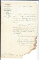 LEGION D'HONNEUR  Nomination 1845  ( Nominé Informé Par Ministre Marine De Mackau ) + Autre 1861 - Alte Papiere