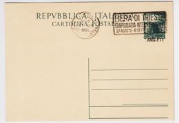 Trieste A, Cartolina Postale C 14 Anullata Non Viaggiata (05319) - Sin Clasificación