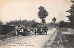 CIRCUIT DE LA PRESSE-1907, PONT-L'EVÊQUE , LE VIRAGE DE SAINTE-MELEAINE - Rallyes