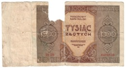 Poland 1000 Zlotych 1945 DH Replacement - Polonia