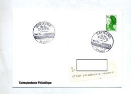 Lettre Cachet Bondy Histoire Poste Sur Roulette - Cachets Commémoratifs