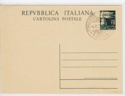 Trieste A, Cartolina Postale C 13 Annullata Non Viaggiata (05324) - 7. Trieste