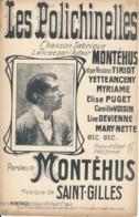 CHANSON  Satirique - Les Polichinelles - MONTEHUS, St Gilles - Partitions Musicales Anciennes