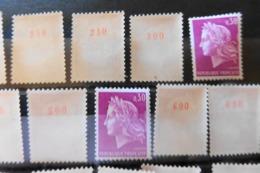 06/09/2019-   Rare Lots Collections N° Des Centaines Dont N° 1000   ROULETTES  N°1536 Avec N° Rrr!! Cote 300 MIN - Coil Stamps