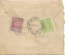 SERBIA 1921 SMALL COVER SENT TO GEOGRAD WITH 2 STAMPS COVER USED - Serbie