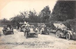 CIRCUIT DE LA PRESSE-1907, LES QUATRE ROUTES DE FOLLEVILLE , ETUDE DU CIRCUIT - Rallyes
