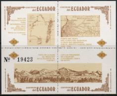 Ecuador 1986 Scott 1141 MNH Geodesy, Map - Equateur