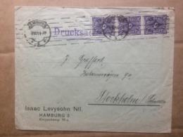 GERMANY 1923 Cover Hamburg To Stockholm - `Isaac Levyshohn` - Germania