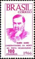 BRAZIL #1024 -  POET  RUBÉN DARÍO  -  LITERATURE - POETRY  - 1966 - Brazil