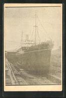 AK Passagierschiff Kagi Maru Im Dock - Dampfer