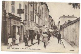 ANTIBES Rue DE LA REPUBLIQUE MAGASIN AUBERT ET AUTRES COMMERCES - Antibes
