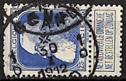[840403]TB//O/Used-Belgique 1905 - N° 75, 25c Bleu, GENT - GAND - 1905 Thick Beard