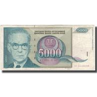 Billet, Yougoslavie, 5000 Dinara, 1992, KM:115, B+ - Yougoslavie