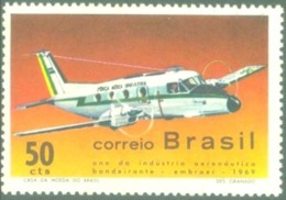 BRAZIL #1143 - AIRCRAFT  BANDEIRANTE  -  BRAZILIAN  AERONAUTIC INDUSTRY -  1969 - Brazil