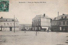CPA 27  BEUZEVILLE PLACE DE L.EGLISE     MAGASIN  CHARCUTERIE LOISEL  1910   D 13 - Francia