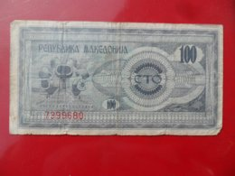 North Macedonia-Severna Makedonija 100 Denari 1993, P-4a - Macédoine