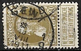 [840279]TB//O/Used-Belgique 1905 - N° 75, 20c Reseda Fonce, GENT - GAND - 1905 Thick Beard
