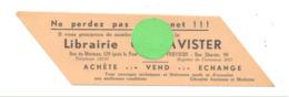 Marque-pages Publicitaire - Librairie DAVISTER à VERVIERS  - Signet (b260) - Marque-Pages