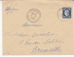 France Enveloppe Vers La Belgique   Timbre De 1949  N°   831 - Brieven En Documenten
