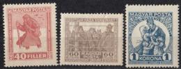 UNGHERIA - 1920 - Serie Completa Nuova MH: Yvert 284/286; 3 Valori. - Hungary