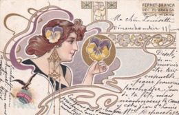 Liberty  -  Pubblicità Della Ditta  Fernet-Branca Dei F.lli Branca, Milano  -  Lit. F.lli Tensi, Milano - Pubblicitari