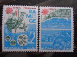 MONACO 1986 Y&T N° 1520 & 1521 ** - EUROPA PROGRAMME RAMOGE - Unused Stamps