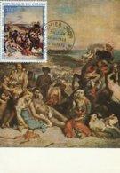 Carte Maximum  -  Scènes Des Massacres De Scio Par Delacroix - Brazzaville