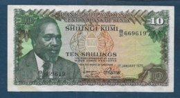 KENYA -    Billet 10 Shillings - Kenya