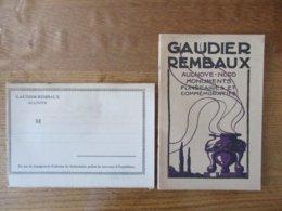 AULNOYE NORD GAUDIER REMBAUX MONUMENTS FUNERAIRES ET COMMEMORATIFS CATALOGUE 1921 - Advertising